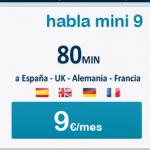 habla mini 9, la tarifa para hablar minutos con Francia, Reino Unido, Alemania y España de Happy Móvil