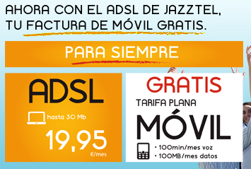 Llamadas y datos gratis con Jazztel ADSL en tu móvil