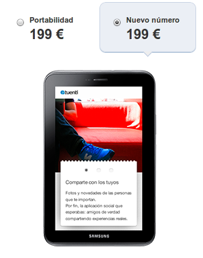 Samsung Galaxy Tab 2.7.0 en Tuenti Móvil