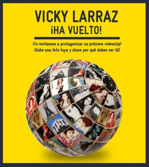 Participa en el videoclip de Vicky Larraz