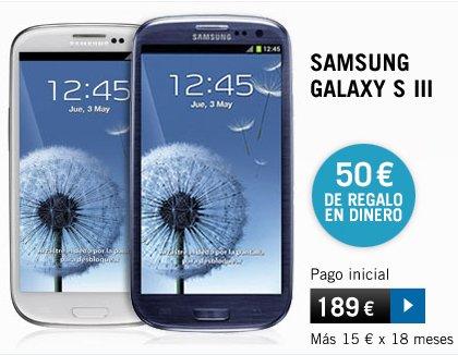 Yoigo Jazztel Samsung S3, descuento directo en dinero