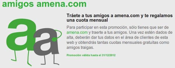 Cuota gratis en Amena si invitas a tus amigos