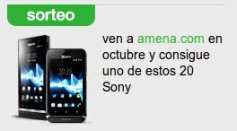 Sorteo 20 móviles Sony por Amena