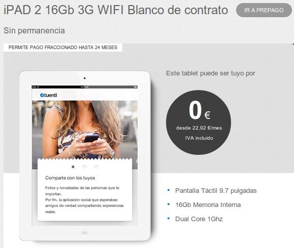 Tuenti móvil estrena iPad e iPad2