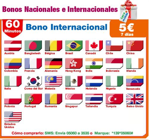 Bono semanal de llamadas nacionales e internacionales de Lyca