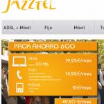 Jazztel renueva sus packs ahorro, o tarifa combinada de ADSL, móvil e internet móvil
