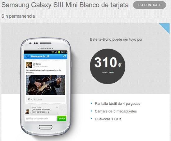 Samsung Galaxy S3 mini con Tuenti Móvil