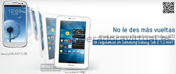 Tablet Samsung Galaxy Tab gratis con Yoigo y comprando un S3