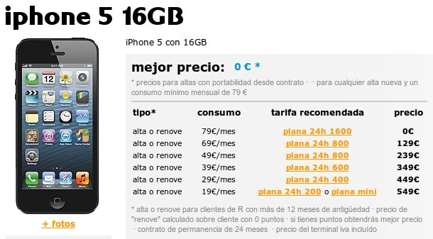 Mobil R ya vende nanoSIm e iPhone 5