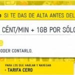 MÁSmovil promoción Tarifa Cero: Llamadas a 0 céntimos/minuto y 1 giga de datos por 4.5 euros