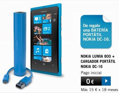 Nokia Lumia, batería portátil gratis