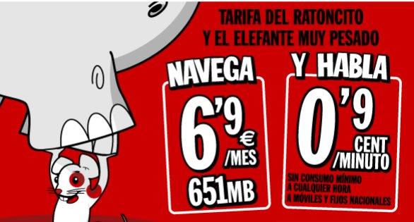 Pepephone tarifa barata del elefante y el ratón