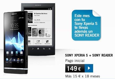 Comprando Sony Xperia S de Sony un ebook reader gratis