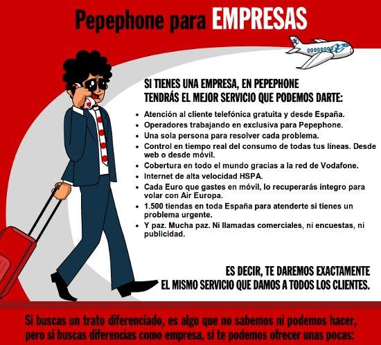 Pepephone para empresas