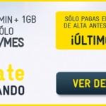 Último día de promoción MÁSmovil, 1 giga por 4.5 euros y llamadas a 0 céntimos/minuto