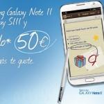 Samsung regala 50 euros a quiénes hayan comprado un Samsung Galaxy S3 o un Note 2 con Yoigo o OMVs