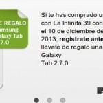 Samsung Galaxy Tab 2 gratis con Yoigo, el S3 y su tarifa la infinita 39