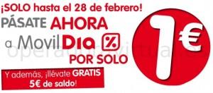 Tarjeta SIM de Movildia a 1 euro