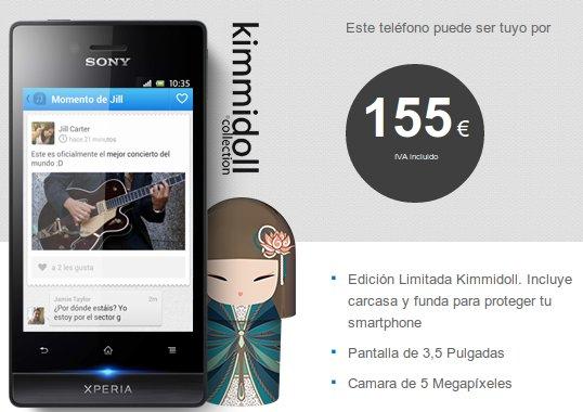 Sony Xperia Miro Kimmidoll de Tuenti Móvil