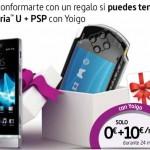 PSP gratis con el Sony Xperia U con Yoigo