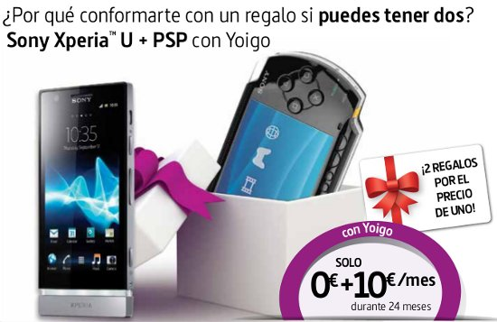 Sony Xperia U con PSP E-1000 gratis