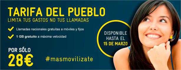 Tarifa del Pueblo ilimitada de MÁSmovil