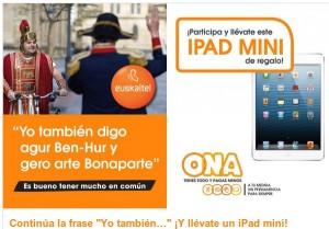 iPad mini gratis Euskaltel Ona