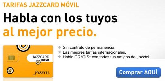 Tarifa Jazzcard Móvil de Jazztel