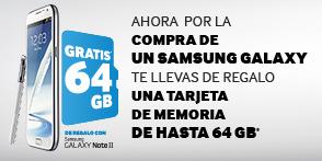 Memoria de 64 GB con Galaxy S3