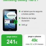 Tablet Samsung Galaxy Tab 2 de 7 pulgadas, a plazos también con Amena