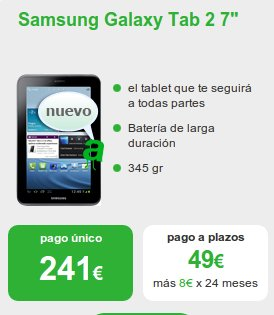 Samsung Galaxy Tab 2 con Amena