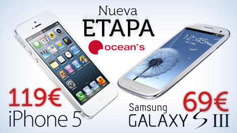 Ocean's Iphone 5 y Samsung Galaxy S3