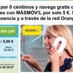 3 meses de internet 1 GB por 5 euros en total con MÁSmovil