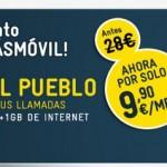 Promoción llamadas ilimitadas y 1 GB de internet con MÁSmovil por menos de 10 euros mes