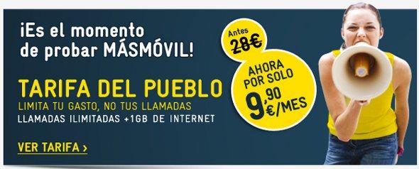 Llamadsa ilimitadas y 1 GB de datos por menos de 10 euros