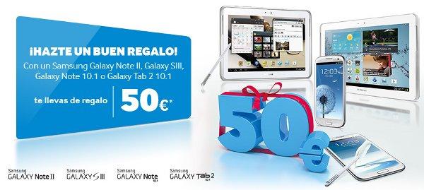 Samsung Galaxy S3, Note 2, Galaxy Tab 10: 50 euros gratis
