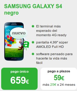 Samsung Galaxy S4 con Amena