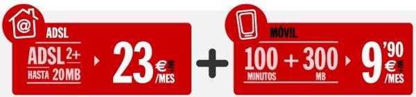 Bono de Pepephone barato en combinación con ADSL