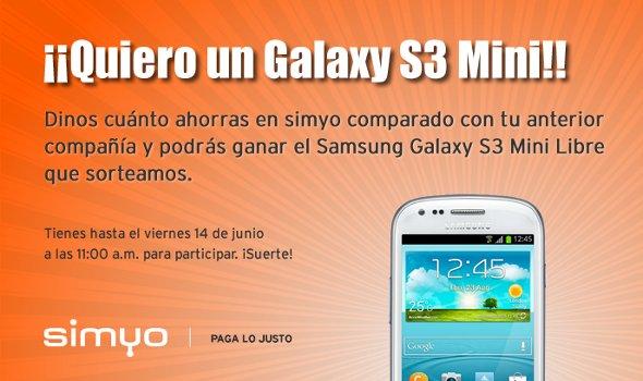 Simyo Samsung Galaxy S3 mini gratis