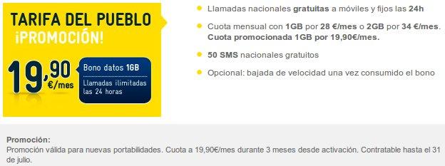 Llamadas ilimitadas y 1 GB promocionales con MÁSmovil
