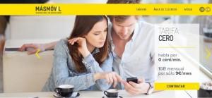 Nueva web de MÁSmovil 2013