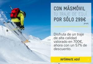 Traje esquí de MÁSmovil