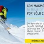 MÁSmovil también vende trajes de esquí
