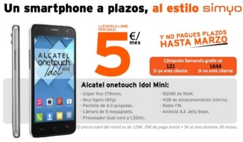 Simyo vende a plazos celulares libres de fábrica a sus clientes