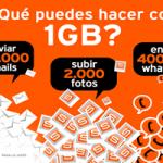 ¿Que se puede hacer con 1GB en Simyo?