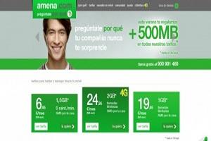 Amena regala a sus clientes 500 Mb