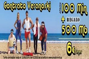 Descubre la nueva tarifa Veranoski con Eroski Móvil