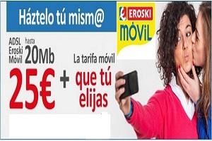Eroski Móvil ofrece la tarifa convergente más barata del mercado.