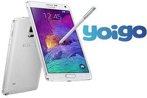 Llega el nuevo Samsung Galaxy Note 4 a Yoigo