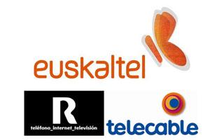 Euskatel, Telecable y R